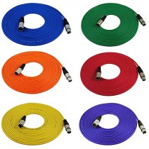 Cable, GLS Audio XLR - 25ft Colored
