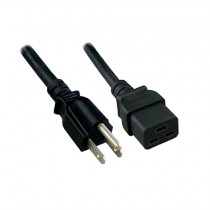 Power Cord 14AWG 15A (NEMA 5-15P to C19)