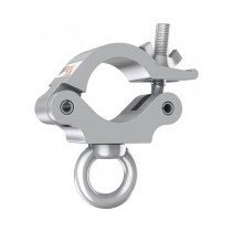 Global Truss Pro O-Clamp with Eyelet - Silver